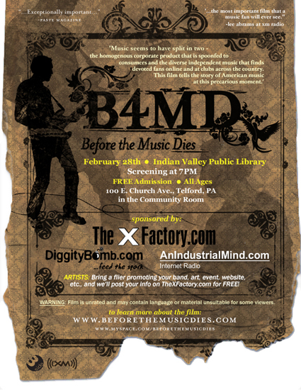 TheXFactory com Presents: Before The Music Dies Movie
