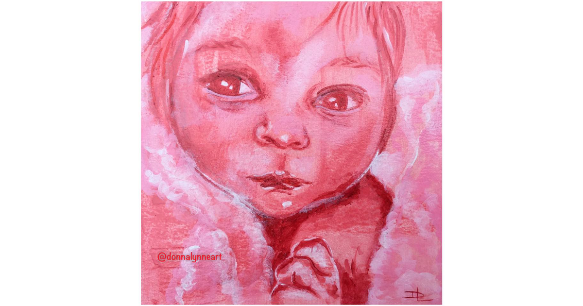 My beautiful little grandniece, Lilou by Donna Lynne Art